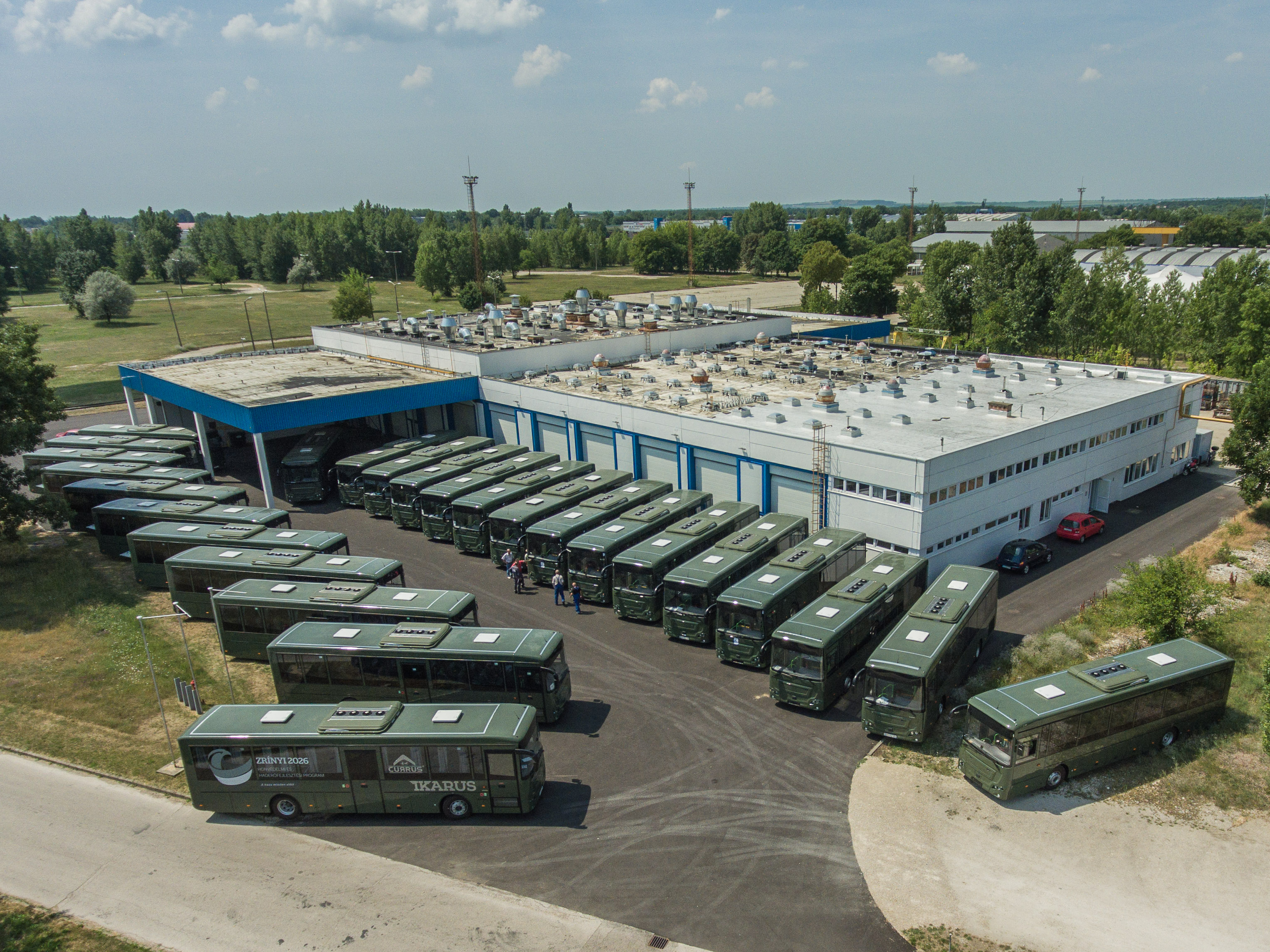 Multifunctional buses manufactured for military purposes